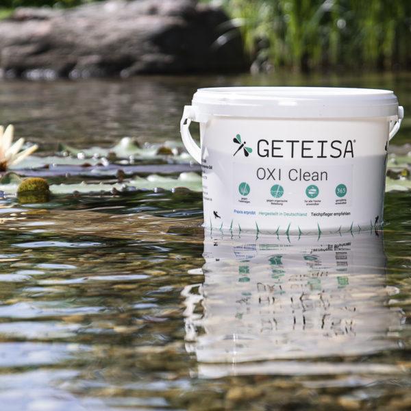 Im Teich kom  Oxi Clean