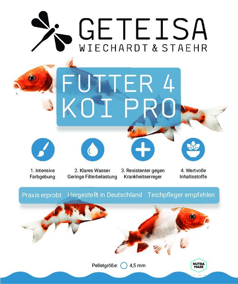 Koifutter und Goldfischfutter von GETEISA®